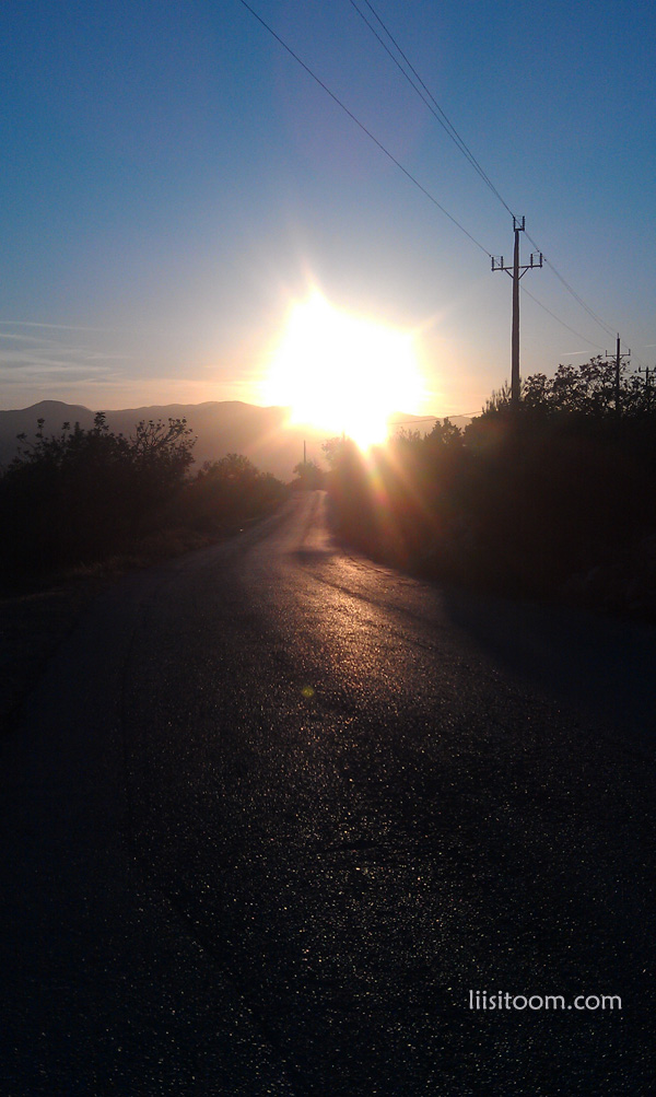 An amazing sunset on your way back from yet another walking route in Ibiza.