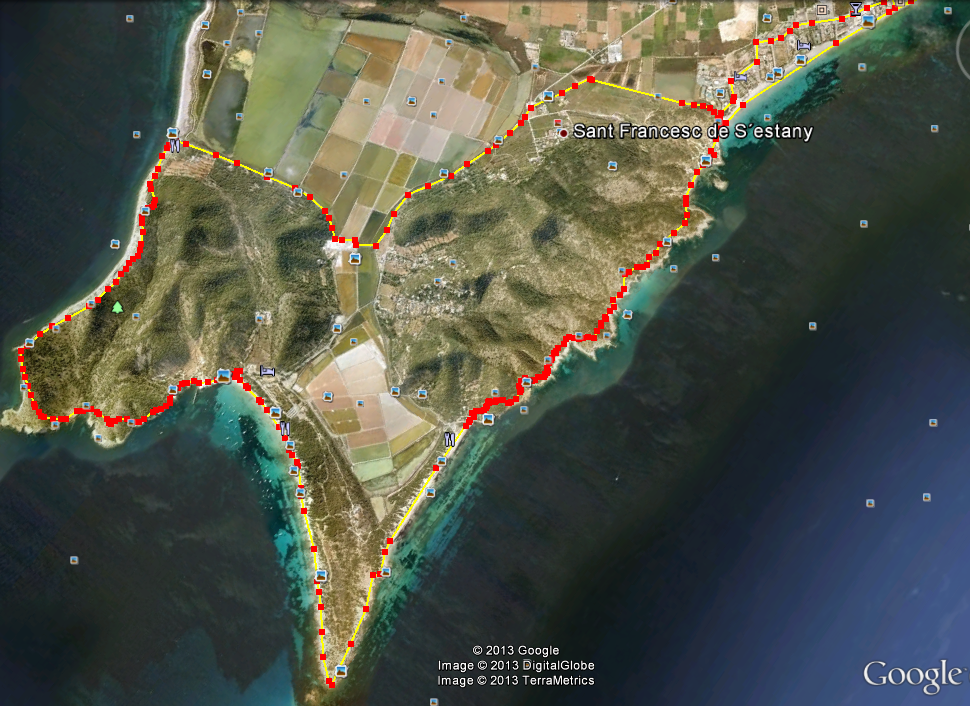 Cap des Falco and Salines walking route