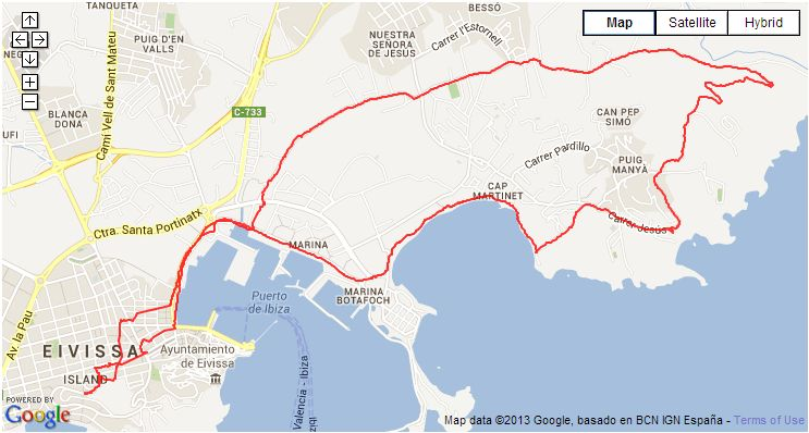 S'Estanyol Talamaca Ibiza Town walking route
