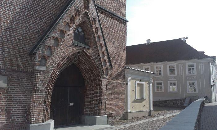 St John's church next to my high school Hugo Treffneri Gymnasium