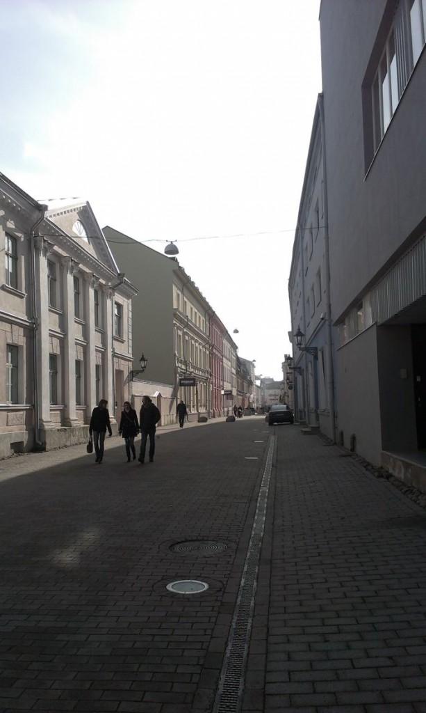 The beautiful streets of Tartu