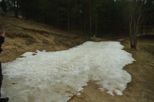 Still some snow left in APril