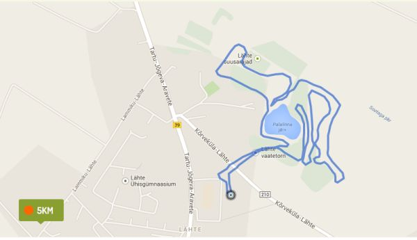 Lähte walking route - 5km