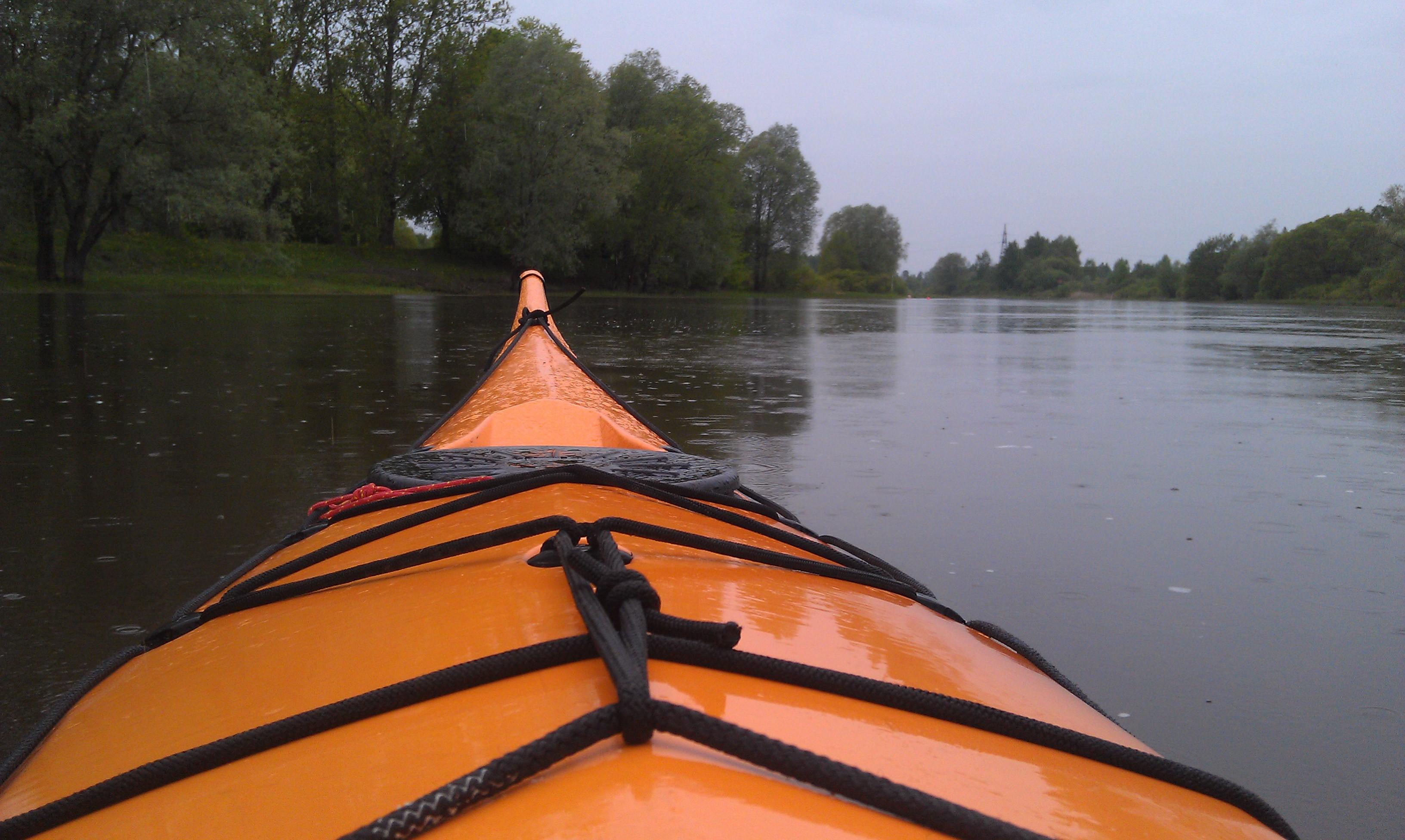 7 kayaking training: Rain don't stop | Liisi Toom