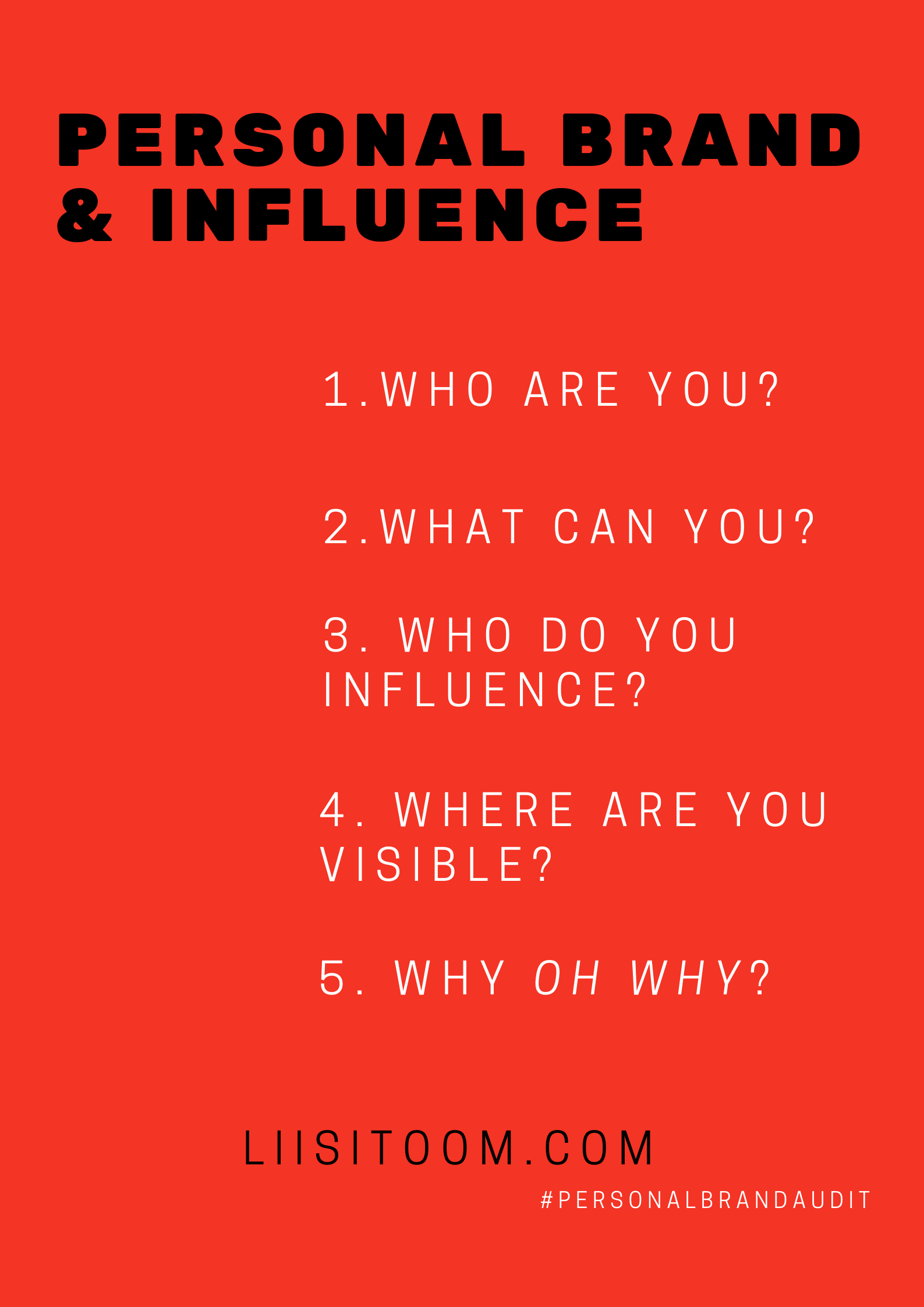 personal branding, influence, influencer marketing, know your why
